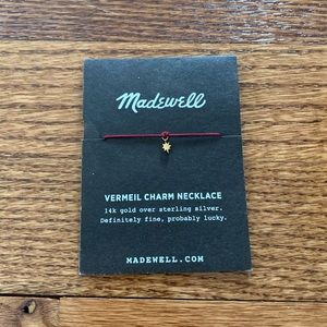 Madewell Star Vermeil Charm Necklace! NEW!
